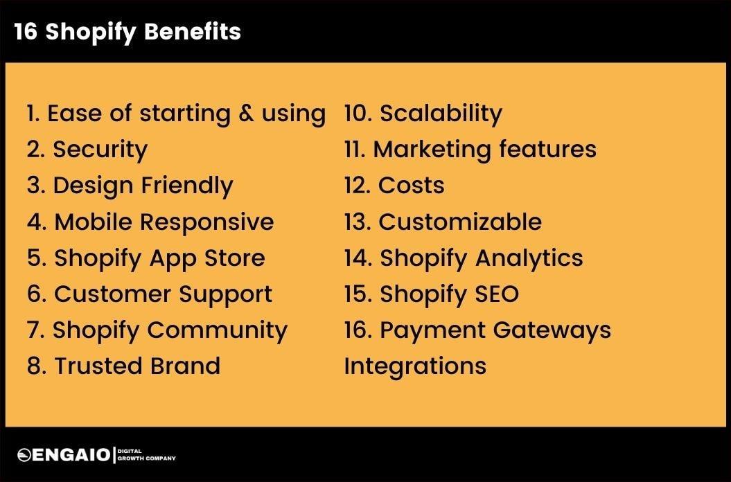 16 Shopify Benefits