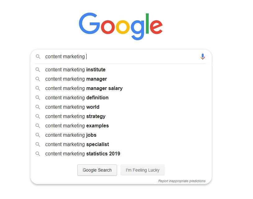 Content Marketing Ideas Google Search