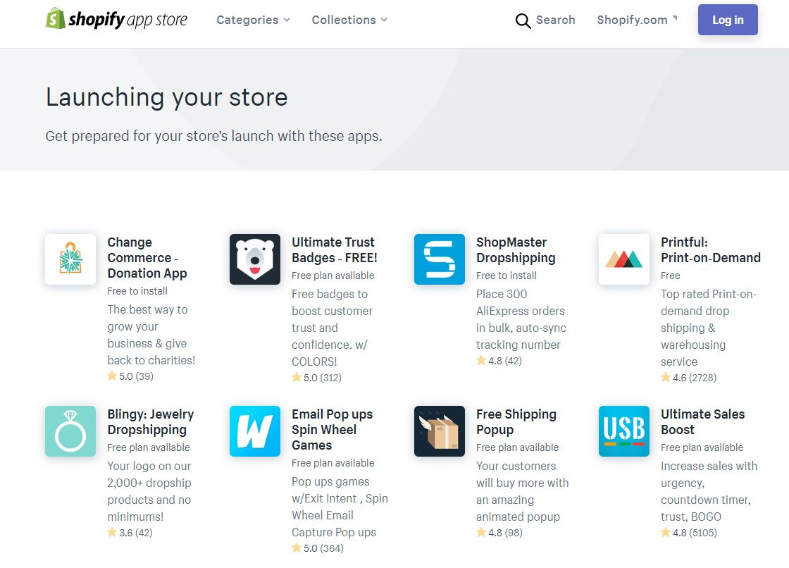 Launching your store apps Shopify