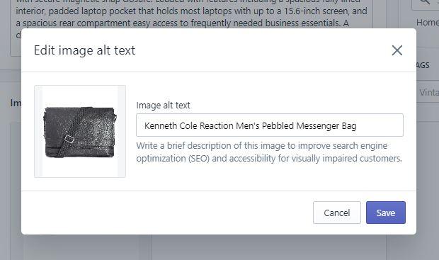 Image Alt Text Shopify