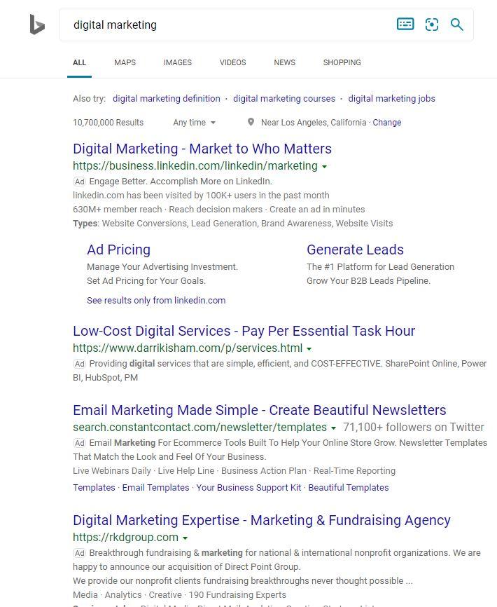 Bing Alternative Search Engine