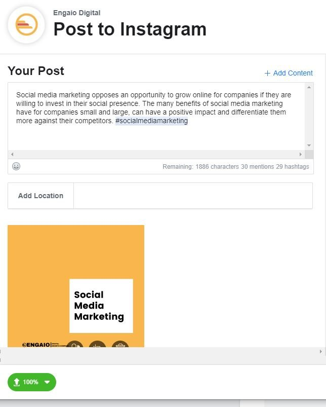 Instagram Post Content Creator Facebook Social Media Marketing