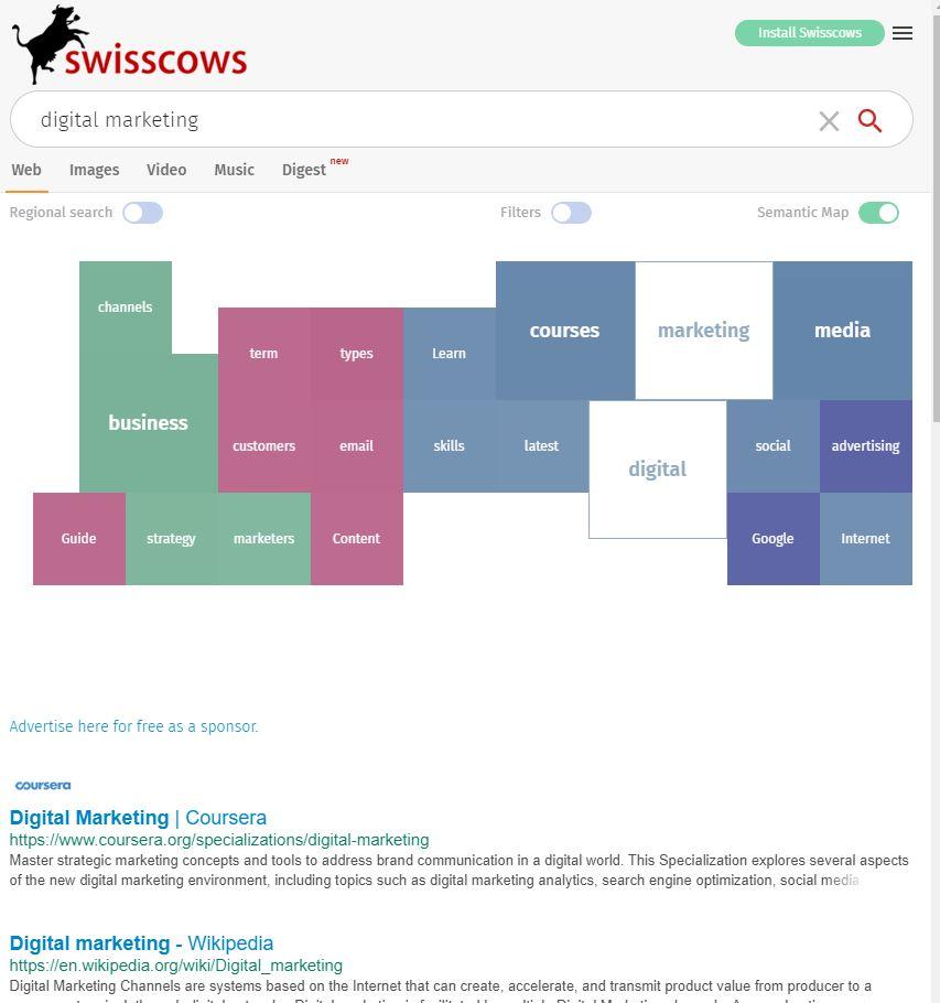 Swisscows search