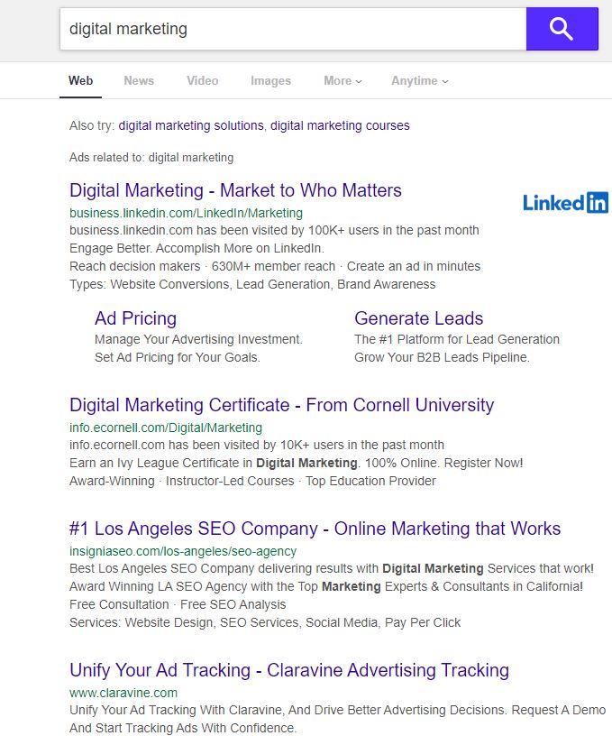 Yahoo Alternative Search Engine