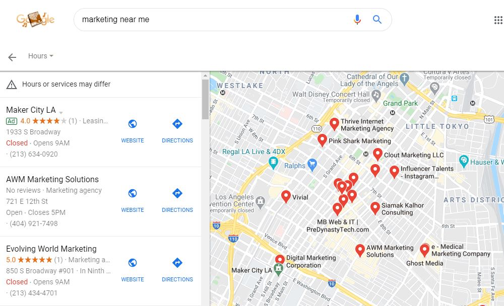 Google Maps Ads Desktop