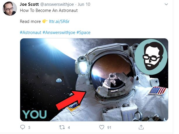 Joe Scott - Answer With Joe Promoting His Youtube Video On Twitter