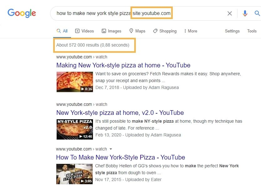 Using The Site Search For Keyword Research