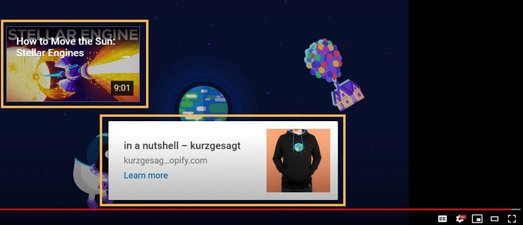 Youtube End Screen Example From Kurzgesagt
