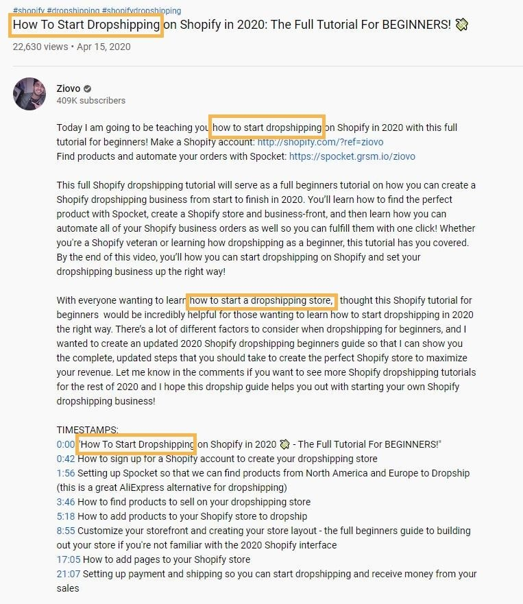 Youtube SEO - Title And Description Keywords