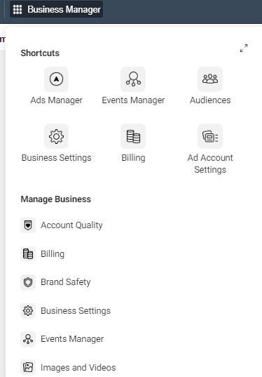 Events Manager Facebook Ads