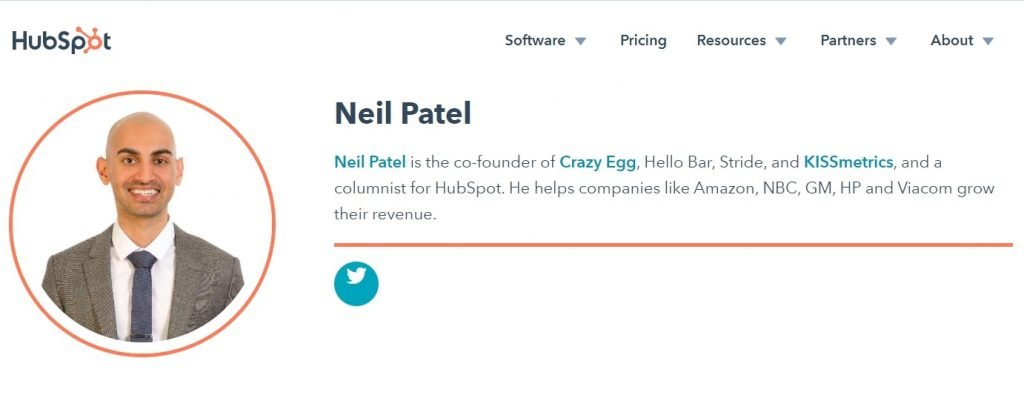 Guest Blog Bio Neil Patel In Hubspot