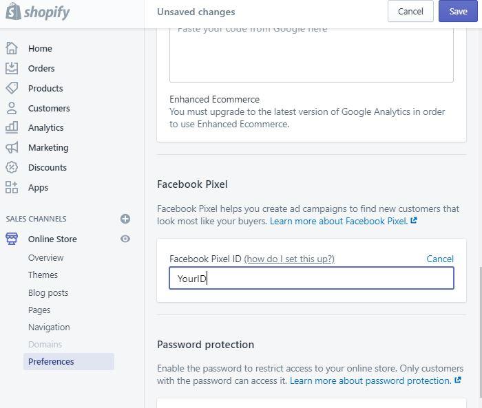 Installing Facebook Pixel in Shopify