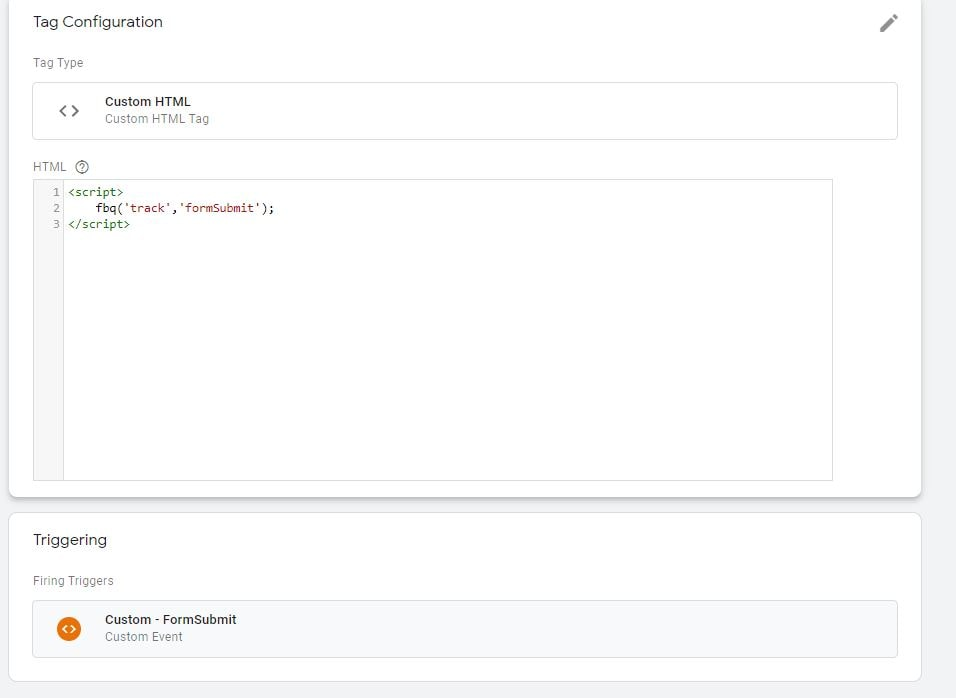 Pixel Custom Event Google Tag Manager