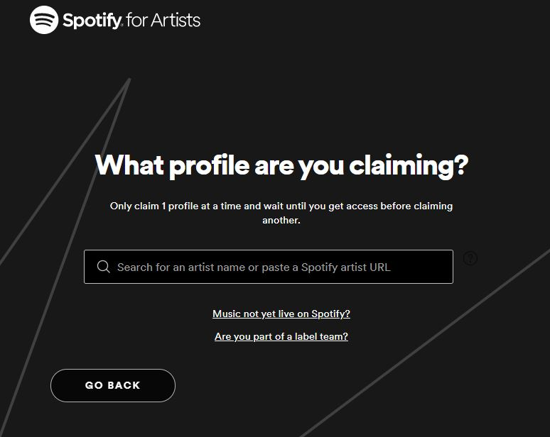 Spotify For Artists Claiming
