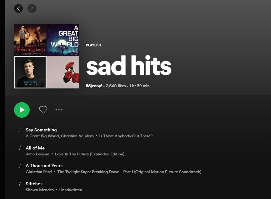 User-generated Playlist