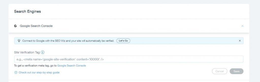 Wix Site Verification Google Search Console