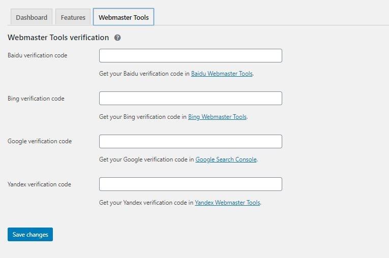 Yoast Webmaster Tools