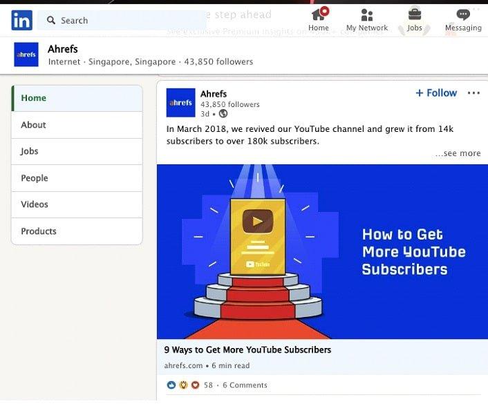 LinkedIn Post as a Company Page