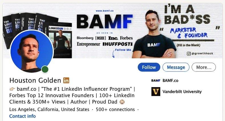 Optimized CTA For LinkedIn Profile